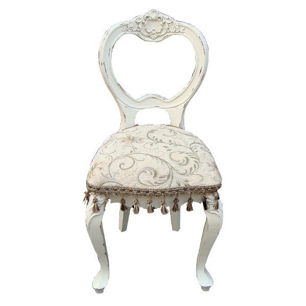 Vintage Antique White French Shabby Chic Bedroom Chair