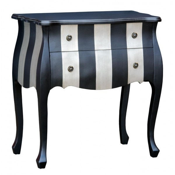 Black And Silver Cabinet Black And Silver Stripe Chest Of