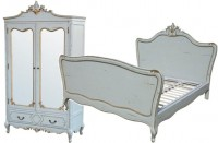 French Egg Shell Blue Painted Furniture