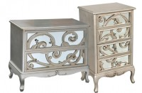 Paisley Fretted Mirrored Furniture