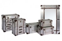 Silver Industrial Metal Aluminium Furniture