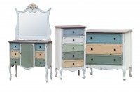 Paras Multi Coloured Shabby Chic Painted Furniture