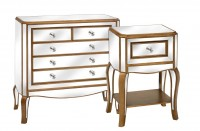 Venetian Shabby Chic Mirrored Furniture