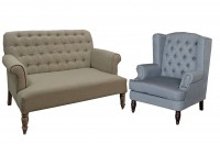 Vintage Shabby Chic Sofa and Armchairs