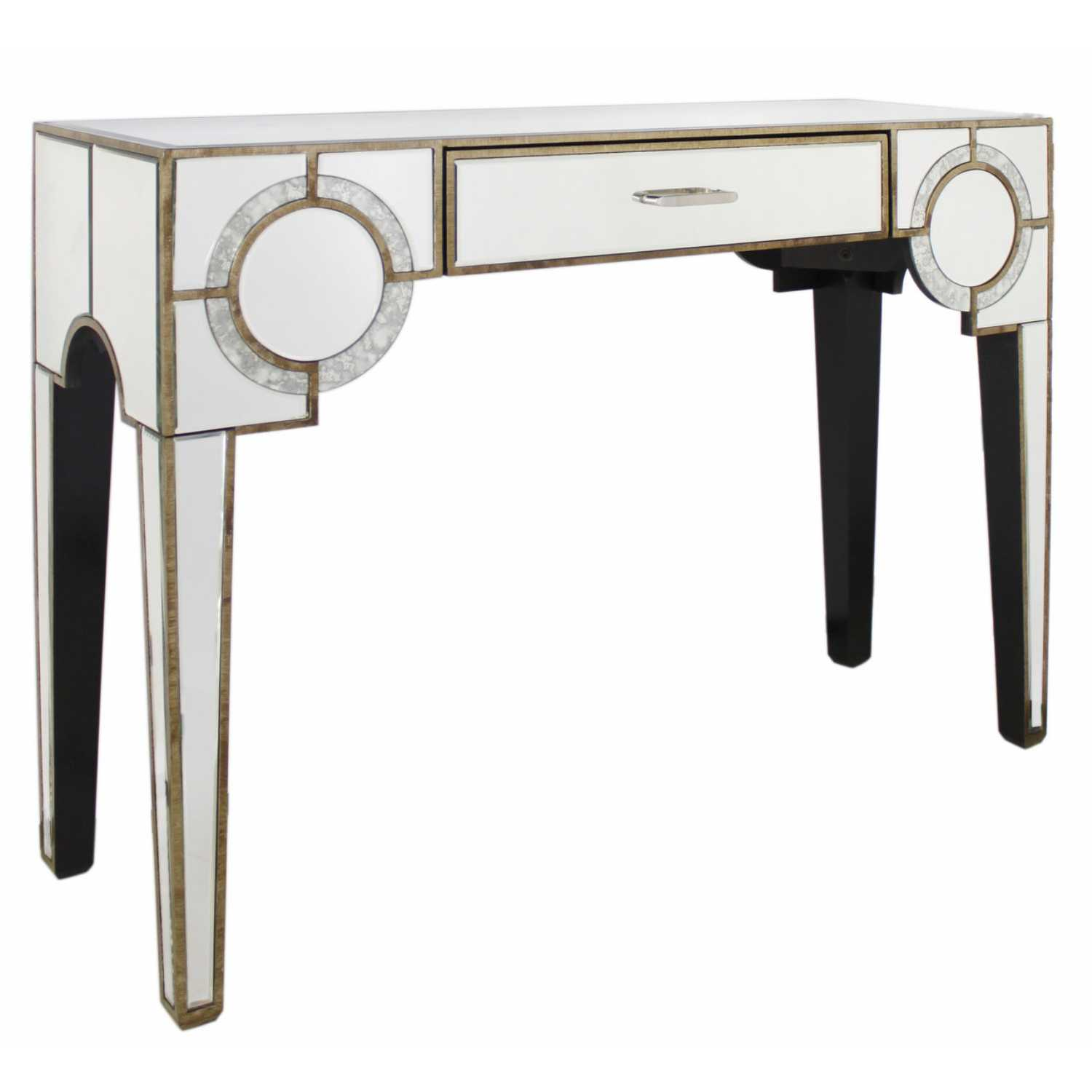 New Deco Mirrored Antique Console Table Gatsby Antique Mirror