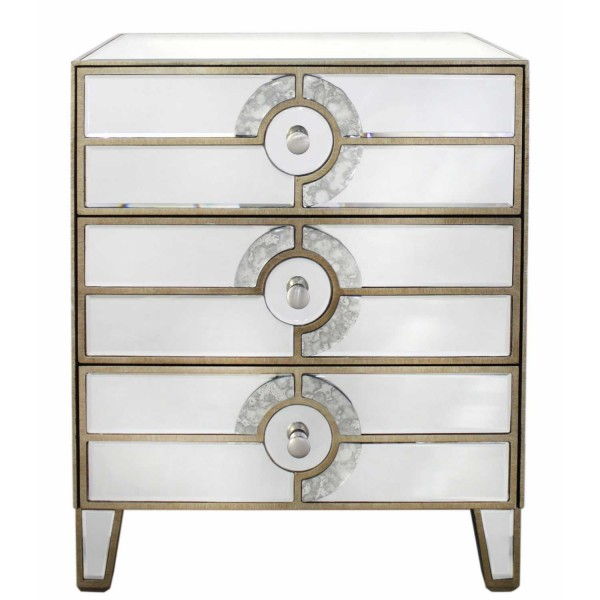 MRF100-00-MR-New-Deco-Antique-Mirrored-Glass-Chest-of-3-Drawers-Gold-Trim