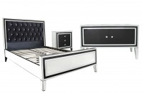 London Black and Clear Mirrored Furniture