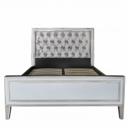 MRF155-00-WHCL-White-London-Mirrored-Glass-King-Size-Bed-Frame-with-Fabric-Headboard-1