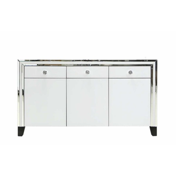 MRF156-00-WHCL-White-Seattle-Madison-Mirrorred-Glass-3-Drawer-3-Door-Storage-Cabinet
