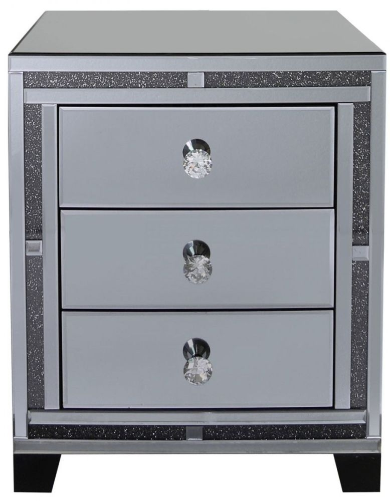 furniture diamond mr home drawers large sparkle drawer mirror bling cabinet