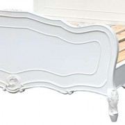 White Antique French Rococo style Double Bed