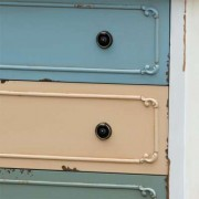 Paras Multi Coloured Shabby Chic Painted Tallboy Chest Of Drawers