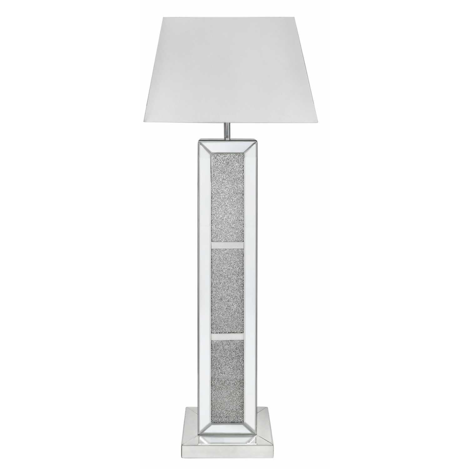Milano Floor Lamp- Milano Mirror Brick Floor Lamp With White Shade ...
