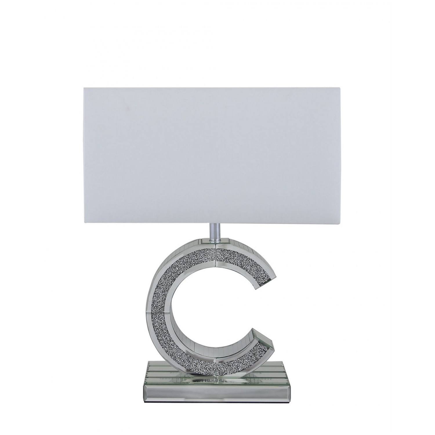 C shaped mirror table lamp milano mirror c shape table lamp mirror small milano mirror c table lamp with white shade aloadofball