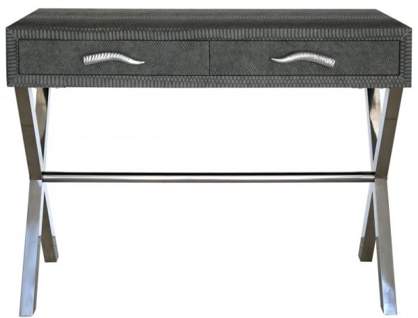 3-Grey-Faux-Snakeskin-2-Drawer-Console-Table
