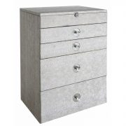 GW1194-00-ASV-Antique-Silver-Faux-Snakeskin-4-Drawer-Jewellery-Box-with-Mirror-1