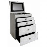 GW1194-00-ASV-Antique-Silver-Faux-Snakeskin-4-Drawer-Jewellery-Box-with-Mirror-2