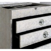 GW1194-00-ASV-Antique-Silver-Faux-Snakeskin-4-Drawer-Jewellery-Box-with-Mirror-4