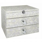 GW1195-00-ASV-Antique-Silver-Faux-Snakeskin-2-Drawer-Jewellery-Box-with-Mirror-1