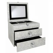 GW1195-00-ASV-Antique-Silver-Faux-Snakeskin-2-Drawer-Jewellery-Box-with-Mirror-2