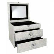 GW1195-00-ASV-Antique-Silver-Faux-Snakeskin-2-Drawer-Jewellery-Box-with-Mirror-3