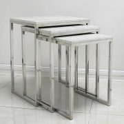 LF050-00-ASV-Antique-Silver-Nest-Of-3-Tables-with-Faux-Snakeskin-Leather-Tops-2