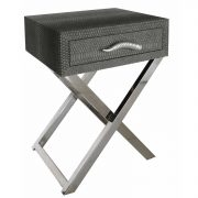 LF055-00-GY-1-Drawer-Grey-Faux-Snakeskin-Console-Table-1