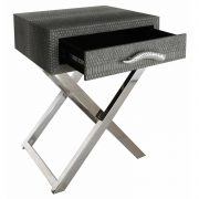 LF055-00-GY-1-Drawer-Grey-Faux-Snakeskin-Console-Table-2