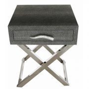 LF055-00-GY-1-Drawer-Grey-Faux-Snakeskin-Console-Table-3
