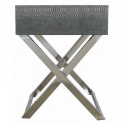 LF055-00-GY-1-Drawer-Grey-Faux-Snakeskin-Console-Table-5