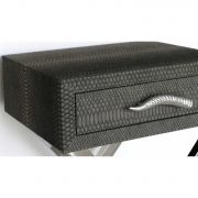 LF055-00-GY-1-Drawer-Grey-Faux-Snakeskin-Console-Table-6