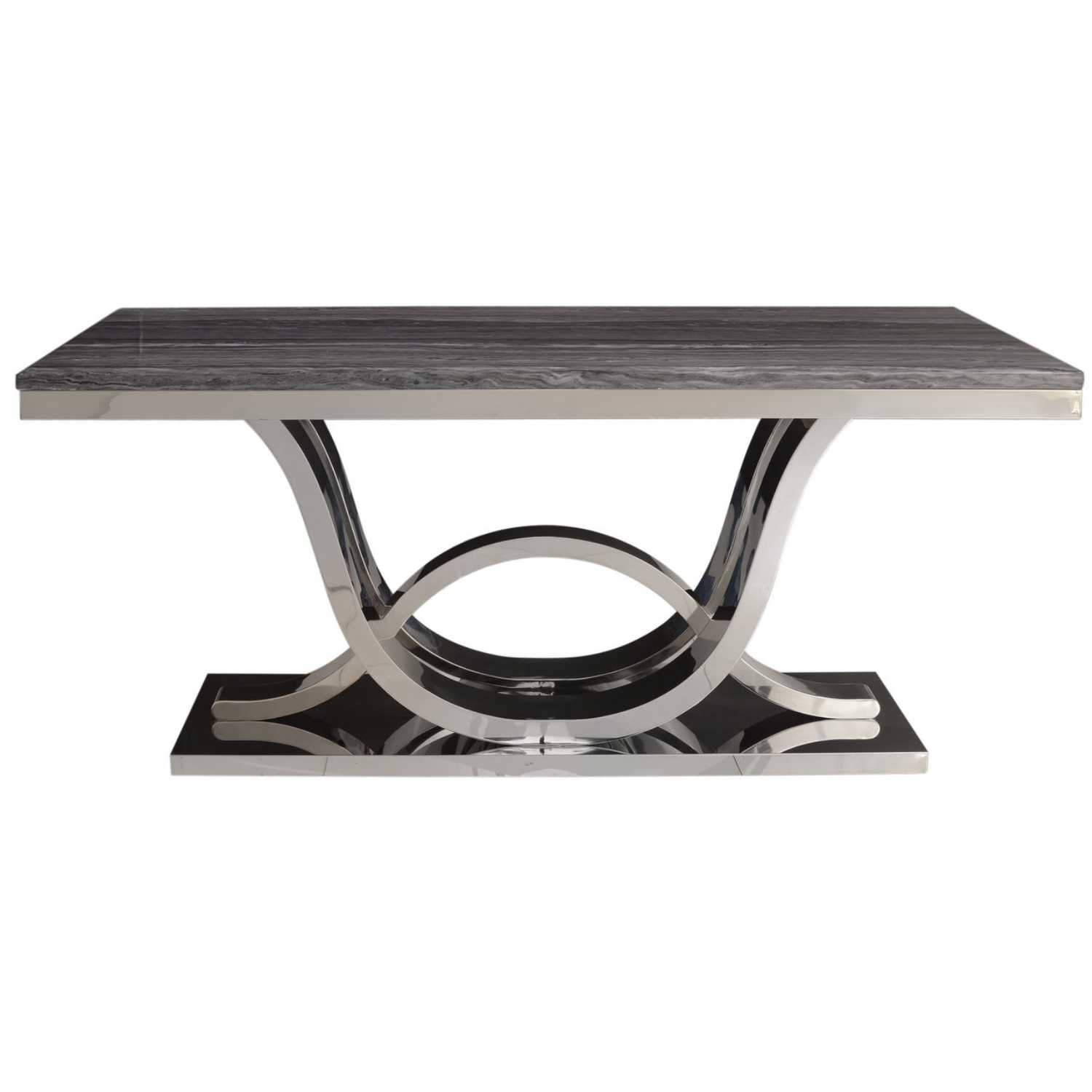 Jupiter Grey Marble And Chrome Dining Table Marble And Chrome - Grey marble top dining table