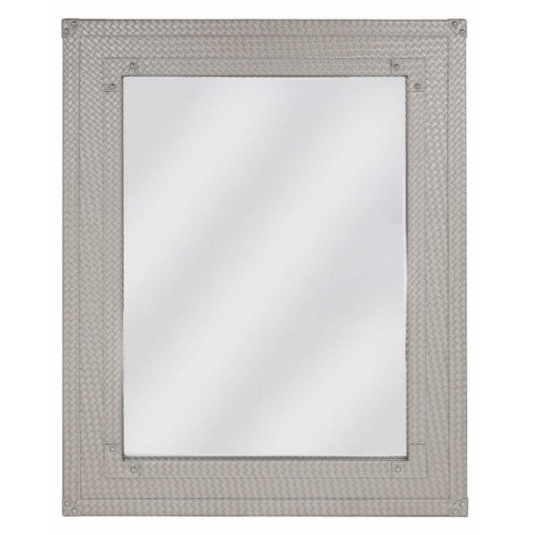 MR159-00-LTP-Faux-Leather-Weave-Light-Taupe-Beveled-Wall-Mirror