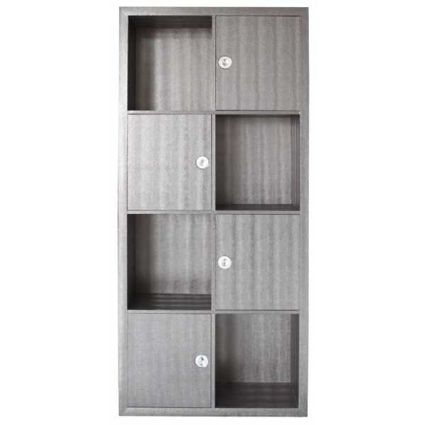 sq600-LF031-00-PW-Pewter-Faux-Snakeskin-Leather-Bookcase