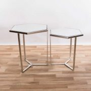 CMT042-SL-Hexagonal-Gin-Shu-Silver-Gilt-Leaf-Parisienne-Metal-Nest-Of-Tables-2