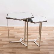 CMT042-SL-Hexagonal-Gin-Shu-Silver-Gilt-Leaf-Parisienne-Metal-Nest-Of-Tables-3