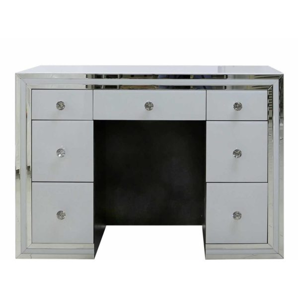 MRF205N-00-WHCL-White-Seattle-Madison-Mirrored-Glass-7-Drawer-Dressing-Table