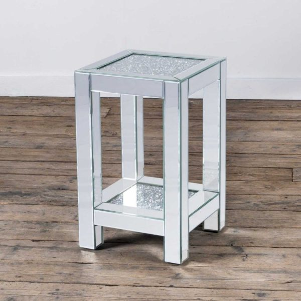 VDC-OT-1S-01-Modern-Mirrored-Venetian-Glass-Crushed-Diamond-Small-Table-With-Shelf