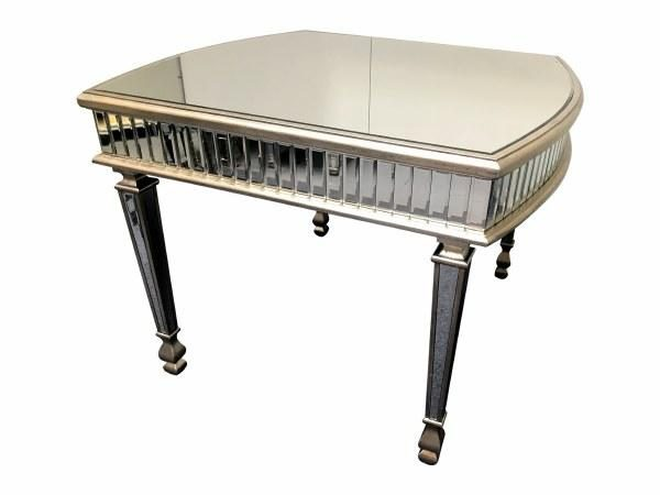 Antique Silver Mirrored Dining Table Mirrored Dining Table Antique Glass Dining Table Mirrored 4 Seater Dining Table Antiqued Mirrored Dining Table