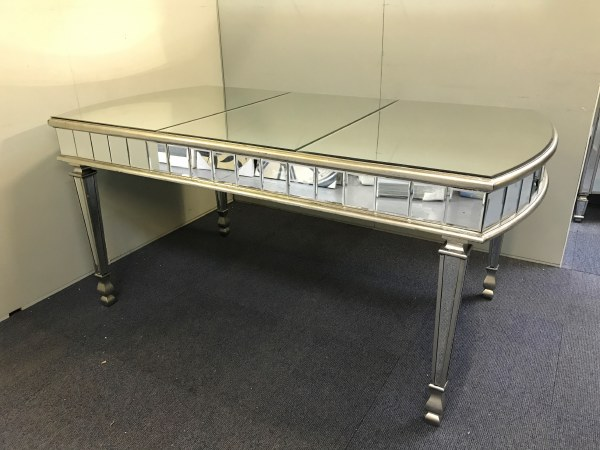 Antiqued Silver Mirrored Dining Table Mirrored Dining Table Antique Glass Dining Table Mirrored 6 Seater Dining Table Antiqued Mirrored Dining Table