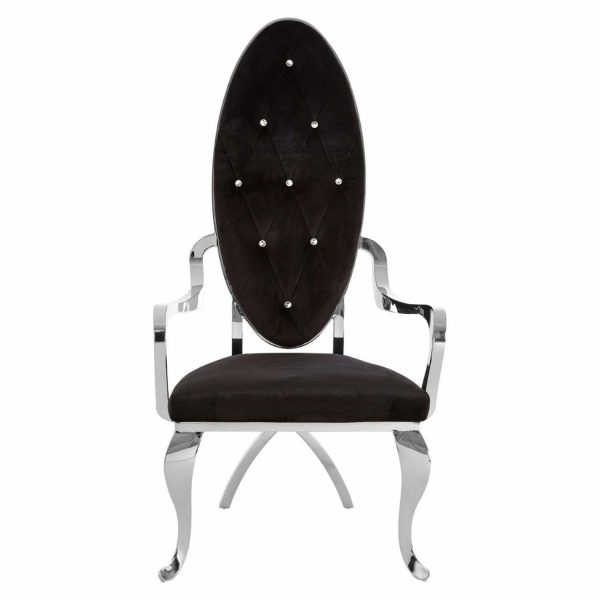 5501922-Fifty-Five-South-Contemporary-Novara-Black-Velvet-Metal-Silver-Baroque-Occasional-Chair