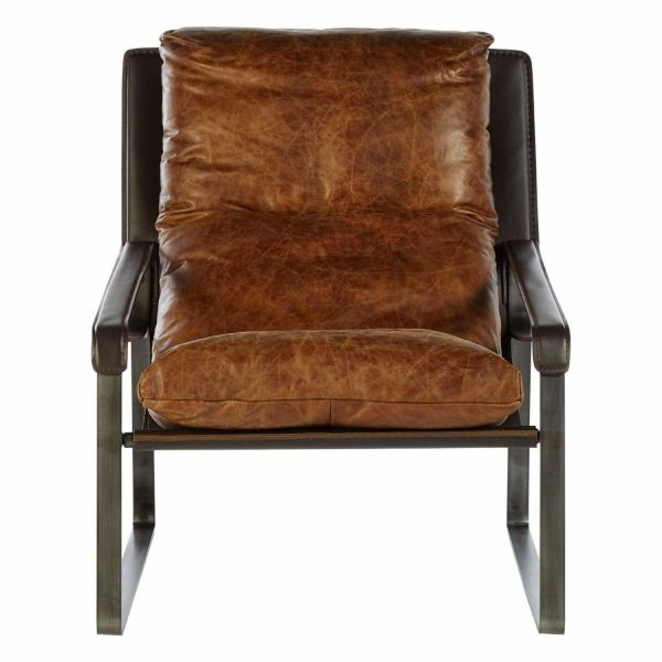 5502204-Fifty-Five-South-Industrial-Hoxton-Brown-Leather-Iron-Flat-Angular-Legs-Lounge-Chair