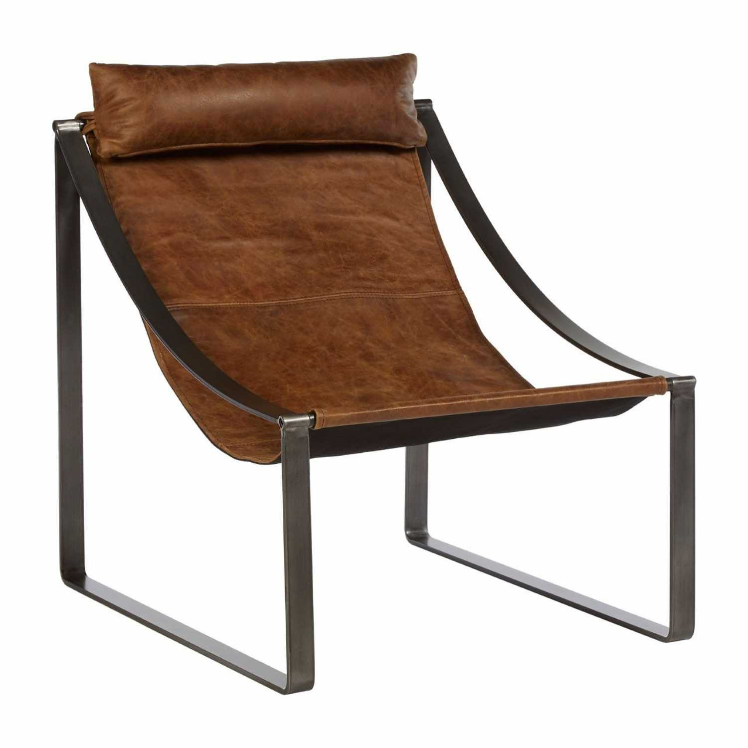 Awe Inspiring Industrial Hoxton Light Brown Leather Armchair Iron Flat Angular Legs Unemploymentrelief Wooden Chair Designs For Living Room Unemploymentrelieforg