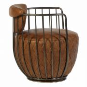 5502324-Hoxton-Barrel-Shaped-Light-Brown-Leather-Iron-Swivel-Cocktail-Chair-2