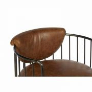 5502324-Hoxton-Barrel-Shaped-Light-Brown-Leather-Iron-Swivel-Cocktail-Chair-4