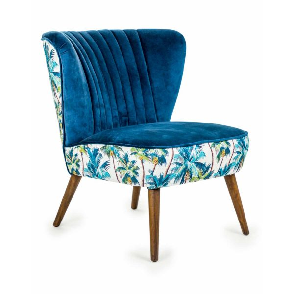 KA76-Tropical-Blue-Velvet-Style-Winged-Occasional-Chair-Palm-Tree-Fabric
